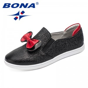 BONA New Fashion Style Girls Casual Shoes Elastic Band Girls Shoes Outdoor Walking Jogging Sneakers Comfortable Free Shipping