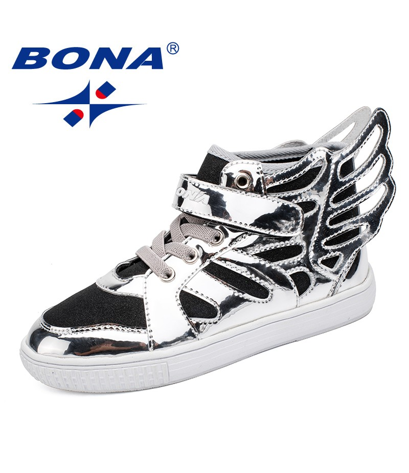 BONA New Fashion Style Children Casual Shoes Hook & Loop Boys Shoes Synthetic Girls Comfortable Kids Sneakers Fast Free Shipping