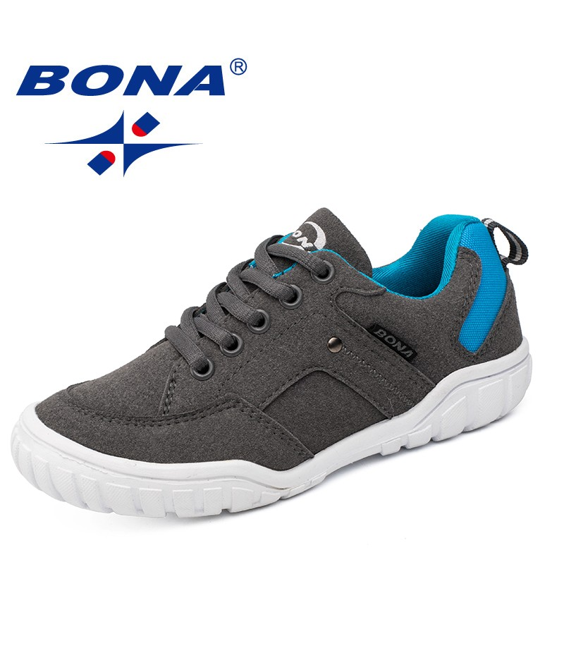 BONA New Classics Style Children Casual Shoes Outdoor Walking Jogging Sneakers Lace Up Boys & Girls Shoes Fast Free Shipping