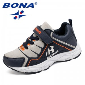 BONA New Style Children Casual Shoes Hook & Loop Boys Shoes Synthetic Girls Shoes Comfortable Kids Sneakers Fast Free Shipping