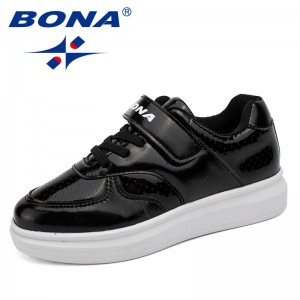 BONA New Style Children Casual Shoes Hook & Loop Boys Shoes Synthetic Girls Shoes Outdoor Jogging Sneakers Fast Free Shipping