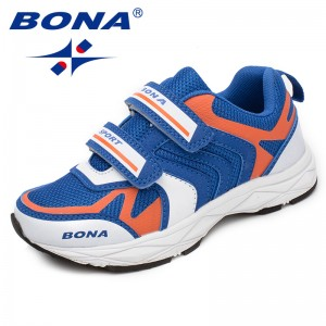 BONA Chinese Shoes manufacture  Children Casual Shoes Hook & Loop Boys Loafers Mesh Girls Flats Comfortable Outdoor Fashion Sneakers