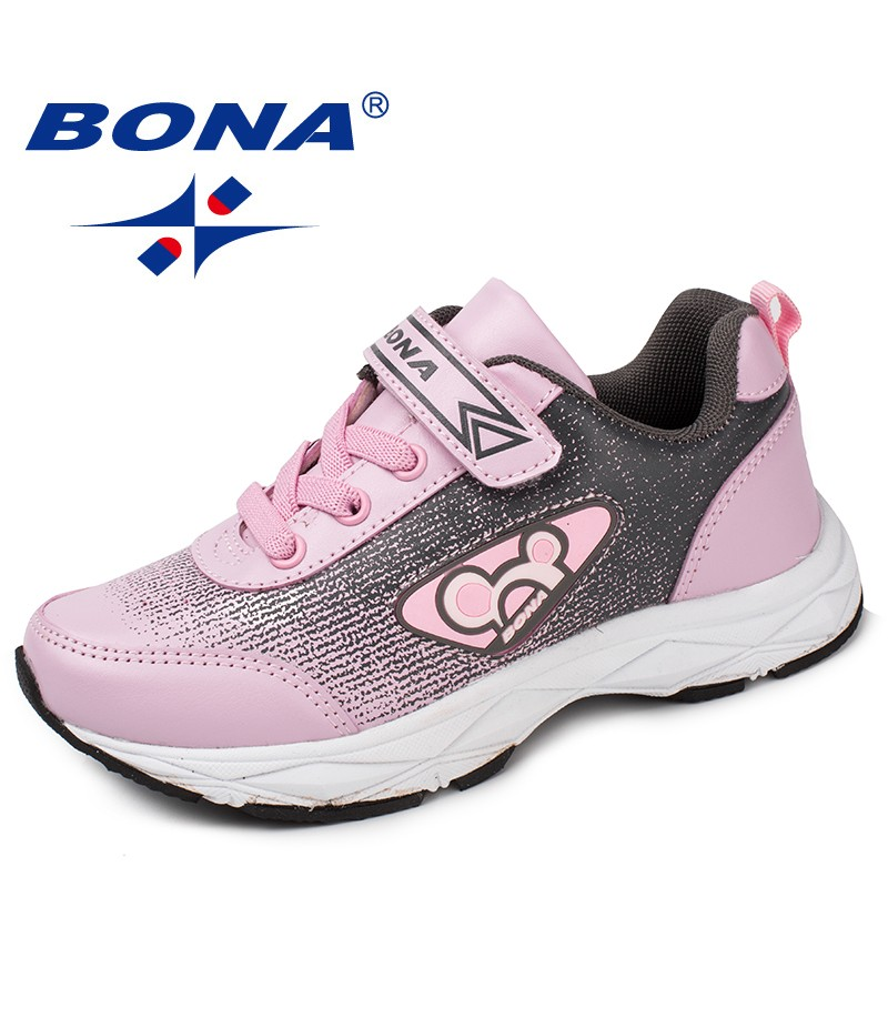 BONA New Popular Style Children Casual Shoes Synthetic Girls Shoes Hook & Loop Boys Loafers Outdoor Fashion Sneakers Shoes