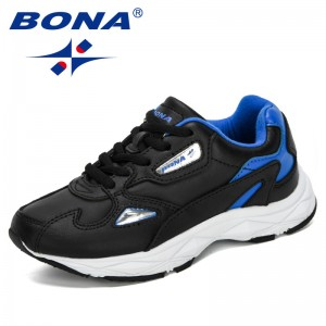 BONA 2019 New Designers Children Shoes Outdoor Boys Casual Shoes Kids Sneakers Leather Sport Fashion Children Athletic Footwear