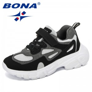 BONA 2019 New Designers Children Shoes Outdoor Casual Kids Sneakers Leather Sport Fashion Children Leisure Footwear Comfortable