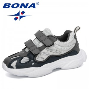 BONA 2020 New Popular Style Children Casual Shoes Outdoor Running Shoes Girls Joging Sneakers Soft Bottom Boys Walking Footwear