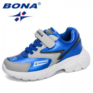 BONA 2020 New Designers Kids Footwear Outdoor Child Sneakers Casual Shoes Running Trainers Boys Girls Chaussure Walking Shoes