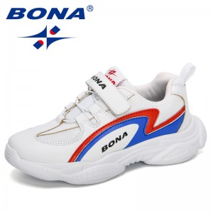 BONA 2020 New Designers Trendy Shoes Children Outdoor Sneakers Running Shoes Kids Trainers Sports Footwear Students Comfortable