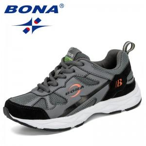 BONA 2020 New Designers Children Sneakers Girls Fashion Casual Shoes Boy Sport Running Shoes Chaussure Kids School Footwear