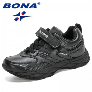 BONA 2020 New Designers Popular Sneakers Boys Girls Shoes Casual Running Shoes Children Sport Trainer Walking Shoes Kids Trendy