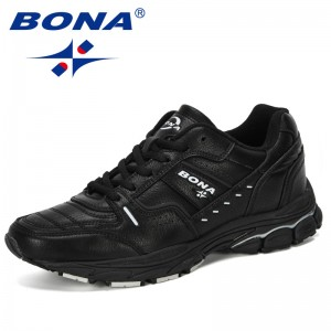BONA 2019 New Designer Hot Style Sneakers Men Outdoor Walking Jogging Trainer Athletic Lace-Up Sport Running Shoe Man Comfortabe