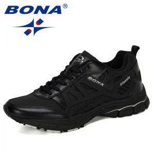 BONA 2019 New Designer Running Shoes Men Zapatillas Hombre Deportiva High Men Footwear Trainer Sneakers Jogging Walking Shoes