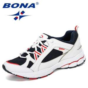 BONA 2019 New Designer Running Shoes Men Athletic Outdoor Sports Walking Shoes Male Fitness Jogging Sneakers Sapatos Comfortable