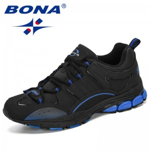 BONA 2019 New Designers Action Leather Running Men Outdoor Jogging Walking Sports Shoes Man Athietic Footwear Male Sneakers Shoe