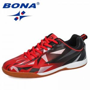 BONA 2019 New Designers Popular Men Football Shoes Athletic Soccer Shoes Man Outdoor Training Football Sneaker Footwear Trendy
