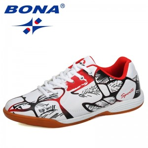 BONA 2019 New Designers Fashion Style Men Outdoor Soccer Shoes Lower Top Football Shoes Man Training Sports Sneakers Shoes Male