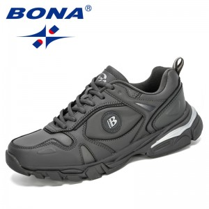 BONA 2020 New Classics Style Cow Split Running Shoes Men Outdoor Sneakers Comfortable Walking Jogging Shoes Man Sport Shoes