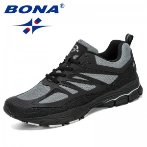 BONA 2019 New Designers Mesh Sneakers Men Outdoor Jogging Walking Shoes Man Sport Shoes Zapatillas Hombre Deportiva Comfortable
