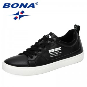 BONA 2019 New Designers Skateboarding Shoes Men Outdoor Sneakers Breathable Sports Shoes Male Street Shoes Chaussure Homme Comfy