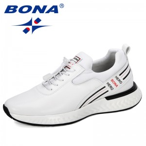 BONA 2019 New Designer Men Sneakers Outdoor Casual Shoes Man Comfortable Breathable Trendy Shoes Lovers Sneakers Tenis Feminino