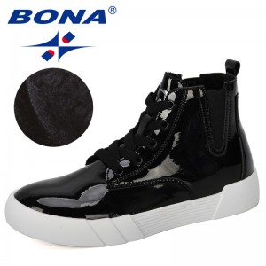 BONA 2019 New Designers Winter Platform Boots Women Super Warm Winter Casual Shoes Woman Ankle Boots Ladies Plush Footwear Comfy