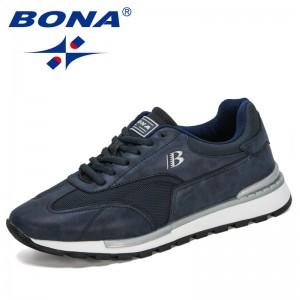 BONA 2020 New Popular Style Sneakers Comfortable Walking Men Casual Shoes Outdoor Leisure Footwear Men Trendy Zapatos De Hombre