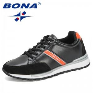 BONA 2020 New Designers Casual Shoes Lac-Up Men Shoe Lightweight Sneakers Leisure Footwear Man Tenis Masculino Zapatillas Hombre