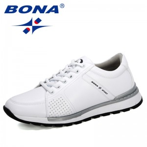 BONA 2020 New Designers Men Sneakers Breathable Man Casual Footwear Zapatillas Hombre Light Walking Male Shoes Chaussure Homme