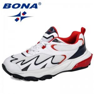 BONA 2019 New Popular Trendy Sneakers Men Shoes Casual Outdoor Comfortable Mesh Microfiber Breathable Man Footwear Non-Slip