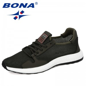BONA 2019 New Designer Autumn Mesh Shoes Men Outdoor Sneakers Breathable Lightweight Movement Shoes Man Trendy Casual Shoes Man