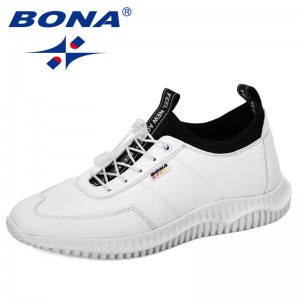BONA 2019 New Designers Casual Shoes Men Sneakers Male Footwear Flats Man Fashion Walking Shoes Leisure Tenis Masculino Trendy