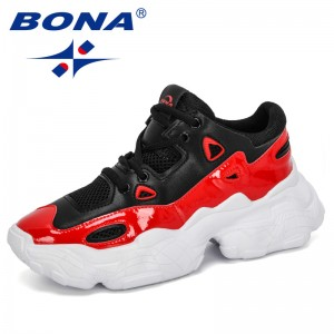 BONA 2020 New Designers Sneakers Fashion Thick Bottom Women Platform Leisure Footwear Ladies Casual Shoes Zapatos De Mujer Comfy