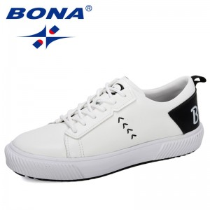 BONA 2019 New Style Outdoor Popular Walking Shoes Men Sports Flat Sneakers Low-top Skateboarding Shoes Man Jogging Footwear