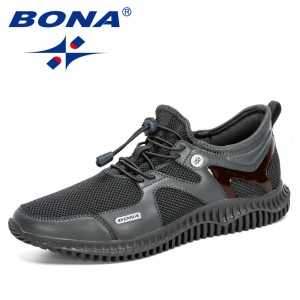 BONA 2020 New Designers Men Shoes Lightweight Comfortable Breathable Walking Sneakers Man Tenis Masculino Zapatillas Hombre Male