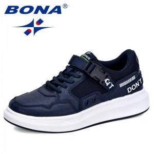 BONA 2019 New Designer Popular Personality Sneakers Men Shoes Casual Outdoor Male Leisure Footwear Increasing Height Comfortable