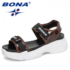 BONA 2020 New Designers Sexy Open-Toed Women Sport Sandals Wedge Hollow Out Sandals Cool Platform Ladies Beach Shoes Feminimo