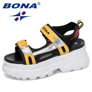 BONA 2020 New Designers Sandalias Mujer Outdoor Women Fashion High Quality Summer Sandals Ladies Increase Flat Platform Footwear