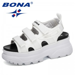BONA 2020 New Designers Sport Sandals Wedge Hollow Out Women Sandals Outdoor Cool Platform Shoes Woman Beach Summer Shoes Ladies