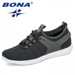 BONA 2020 New Designers Mesh Casual Shoes Women Outdoor Sneakers Woman Platform Heels Ladies Leisure Shoes Walking Footwear