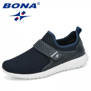 BONA 2020 New Designers Mesh Sneakers Fashion Men Casual Shoes Breathable Wear-Resistant Outsole Training Shoes Man Comfortable