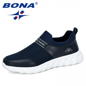 BONA 2020 New Designers Outdoor Sneakers Men Leisure Trainers Shoes Man Vulcanize Walking Shoes Male Tennis Masculino Footwear