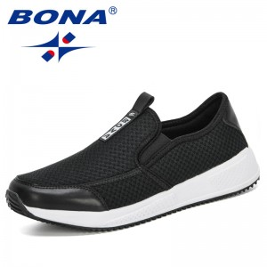 BONA 2020 New Designers Air Mesh Men Casual Shoes Slip On Leisure Shoes Man Outdoor Sneakers Tenis Masculino Adulto Comfortable