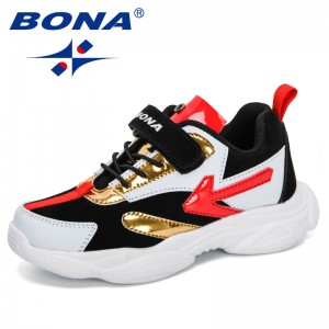 BONA 2020 New Designers Fashion Style Children Casual Running Shoes Boys Outdoor Sports Shoes Girls Sneakers Kids Hiking Shoes