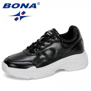 BONA 2020 New Designers Women Casual Shoes Woman Vulcanize Shoes Platform Sneakers Tenis Feminino Ladies Shoes Leisure Footwear