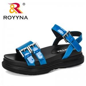 ROYYNA 2020 New Designers Comfort Sandals Women Platform Flip Flops High Quality Flat Sandals Gladiator Sandalias Mujer Trendy