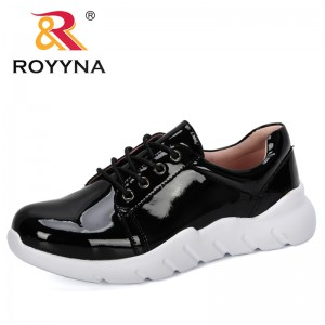 ROYYNA 2019 New Designers Women's Chunky Sneakers Fashion Women Platform Shoes Lace Up Vulcanize Shoes Woman Casual Footwear
