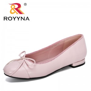 ROYYNA 2019 New Designer Fashion Style Shallow Women's Bowknot Lower Heels Shoes Bowtie Working Shoes Ladies Wedding Shoes