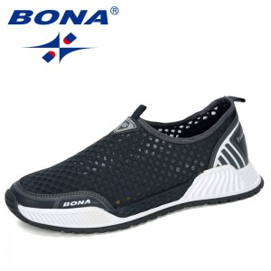 BONA 2020 New Designers Casual Shoes Men Comfortable Breathable Walking Sneakers Man Trendy Tenis masculino Zapatillas Hombre