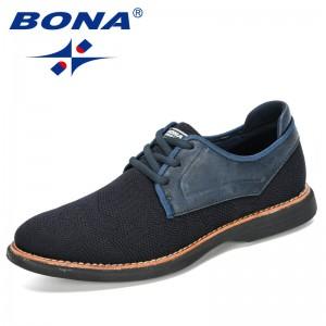 BONA 2020 New Designers Outdoor Men Sneakers Men Casual Shoes Zapatillas Hombre Light Walking Male Leisure Shoes Chaussure Homme