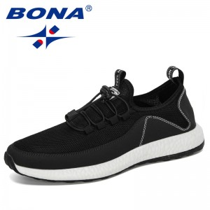 BONA 2020 New Designers Breathable Tenis Men Outdoor Sneakers Man Trainers Super Light Krasovki Sapato Masculino Chaussure Homme